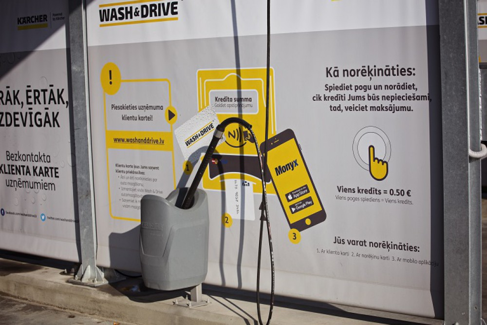 Cashless Payment Solution in Self-service Car Wash Stations